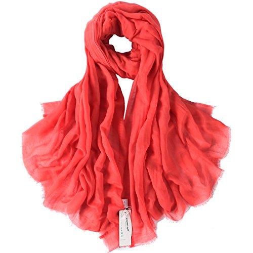 Zorjar Damen Schal Medium Gr. Medium, Coral Blush (Chiffon Blush Sheer)