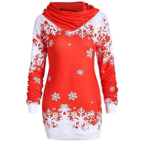 Targogo felpa con cappuccio merry christmas da stampa abbigliamento donna a fiocco di neve pullover lavorato a maglia camicia con scollo a vola tunica top felpa con maniche lunghe top