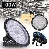 Yuanline 100 W UFO LED-Beleuchtung hohe Industrielampe Ultra Dünn Industrielampe Kaltweiß 6000-6500 K, 10000Lm, AC220V-240 V, wasserdicht, [Energie-Effizienzklasse A++]