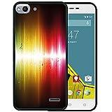 WoowCase Vodafone Smart Ultra 6 Hülle, Handyhülle Silikon für [ Vodafone Smart Ultra 6 ] Musicale Noten Abstrakter Glanz Handytasche Handy Cover Case Schutzhülle Flexible TPU - Schwarz