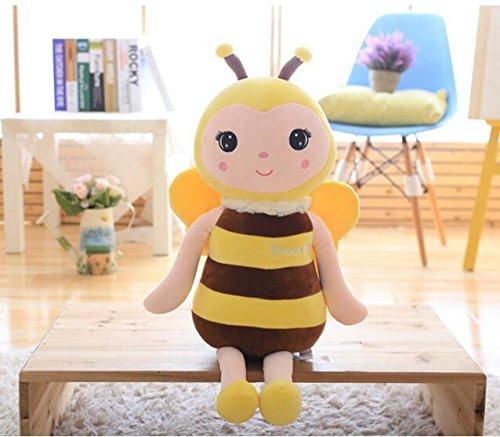 Arulinmz Plüschtier Kinder Geschenk Stofftier Soft Cute Simulation Bee Stofftier Puppe 40cm lang (gelb)