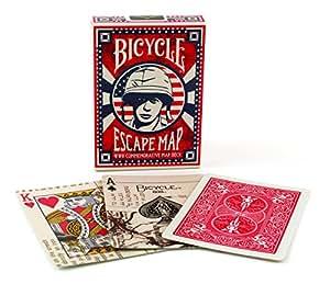 Cartes à jouer Bicycle Escape de la seconde guerre mondiale une commémorative WW2 carte pont Bicycle WWII Escape Playing Cards a WW2 Commemorative Map Deck