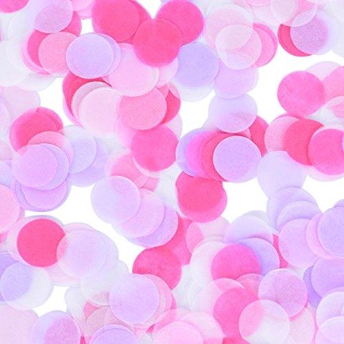 2,5cm rund Papier Konfetti Party Hochzeit Tisch Dekoration Mixed Pink