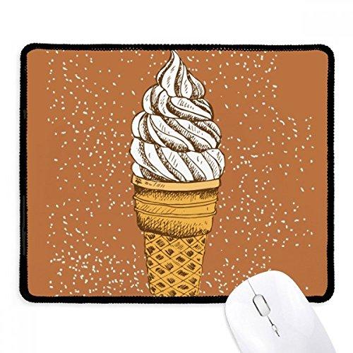 DIYthinker Sahne, Schokolade, Ei-Kegel Eis Griffige Mousepad Spiel Büro Schwarz Titched Kanten Geschenk
