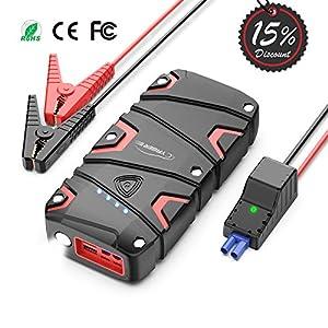 YABER Starthilfe Powerbank 1200A Spitzstrom 15000mAh Auto Starthilfe für 7, 5L Benzin oder 6L Dieselmotor