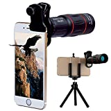 Telescopio monocular universal 18X con ocular Teleobjetivo Cámara con zoom Teléfono móvil con trípode para iPhone X/8 7 Plus Samsung Galaxy S9 S8 y la mayoría de los teléfonos inteligentes Android