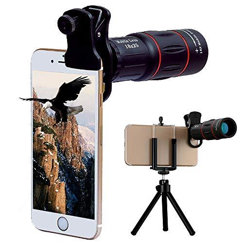 Patasen Universal 18X Tele-Kamera Mobile Smartphone Zoom-Objektiv mit Stativ für iPhone X 8 7 6 Plus6S Samsung Galaxy S9 S8 S7 Huawei und die meisten Android Smartphone (Iphone 6 Plus-kamera-objektiv)