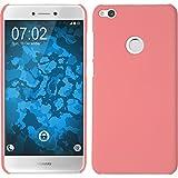 PhoneNatic Case für Huawei P8 Lite 2017 Hülle rosa gummiert Hard-case + 2 Schutzfolien