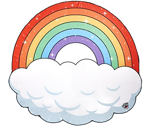 Big Mouth Inc - telo da spiaggia gigante, motivo: arcobaleno, nuvola