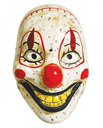 Creepy Clown Doll Maske als Horrorclown Halbmaske im antiken Puppen-Look