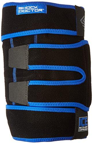 ShockDoctor Erwachsene Ice Recovery Kompression Knie Bandage, Black, S/M, 753-BK