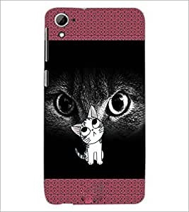 PrintDhaba Kitty D-2468 Back Case Cover for HTC DESIRE 826 (Multi-Coloured)