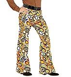 shoperama 70er Jahre Retro Herren Hose mit und ohne Muster Disco Kostüm Siebziger Schlager, Größe:L/XL, Farbe:Bubbles
