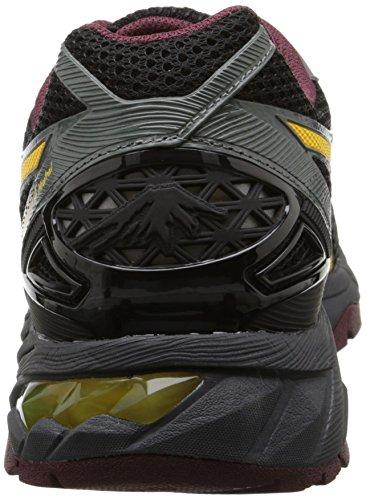 Asics Men's Gel Fuji Trabuco 4 Neutral Running Shoe Black/Spectra Yellow/Royal Burgundy