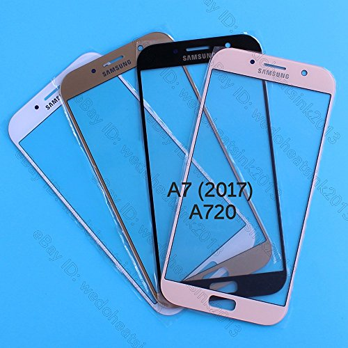 Front replacement touch glass lens for Samsung Galaxy A7 Black