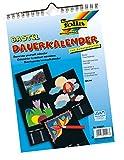 folia 23601 - Dauerkalender, mit Spiralbindung, DIN A4, schwarz
