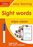 Sight Words Age 3-5 Wipe Clean Activity Book: introduce pre-schoolers to common exception words with fun activities to do over and over (Collins Easy Learning Preschool)