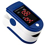 #6: ULTNICE Fingertip Pulse Oximeter Blood Oxygen Saturation Monitor SpO2 Sports and Aviation Monitor (Blue)