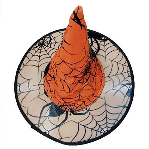 (Quaan Erwachsene Damen Herren Hexe Hut Zum Halloween Kostüm Zubehörteil Flaum Solide Deckel Kostüm Zubehörteil Flaum Solide Abdeckung niedlich Elegant Party Karneval Kostüm Beiläufig)