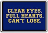 Clear Eyes. Full Heart. Can't Lose - motivational inspirational quotes fridge magnet - Aimant de réfrigérateur