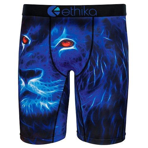Ethika Men's The Staple Mufasa Boxer Brief Underwear Blue