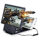 RENNICOCO 3D écran Loupe HD vidéo amplificateur avec Support de Support Pliable pour n'importe Quel Smartphone, iPhone 66Plus 5S Samsung Galaxy S6S5S4S3protéger Les Yeux Noir
