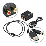 #7: Tobo Optical Coaxial Toslink Digital to Analog Audio Converter Adapter RCA L/R 3.5 mm
