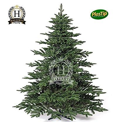 Original-Hallerts-Spritzguss-Weihnachtsbaum-Windsor-210-cm-Edel-Fichte-zu-100-in-Spritzguss-PlasTip-Qualitt-schwer-entflammbar-nach-B1-Norm-Material-TV-und-SGS-geprft