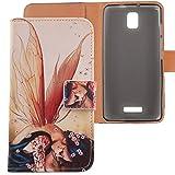 Lankashi PU Flip Leder Tasche Hülle Case Cover Schutz Handy Etui Skin Für Alcatel One Touch Pop Star 5070D 4G 5' Wing Girl Design