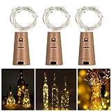 3Packungen Wein Flaschen Lichterkette kupfer Draht Starry Fairy Lichter für Schlafzimmer, Parteien, Hochzeit, Dekoration warmweiß
