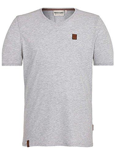 Naketano Male T-Shirt I love my Penis III Grey Melange