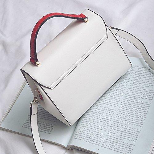 Weibliche Tasche Blumen Stickerei Flip Kleine Quadratische Tasche Schulter Messenger Bag Weiß