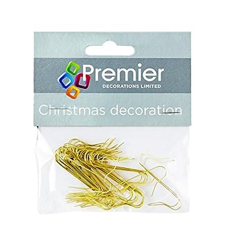 50 Gold Ornament Haken (4 Packs) - Perfekt für hängende Baubles auf deinem Baum