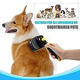 Bonve Pet Hundebürste, Selbstreinigende Bürste| Katzenbürste| Unterfellbürste, Schnelle Reinigung für Kurze| Langeoder Feine| Borstige Haare von Hunde, Katzen und Pferde - 6