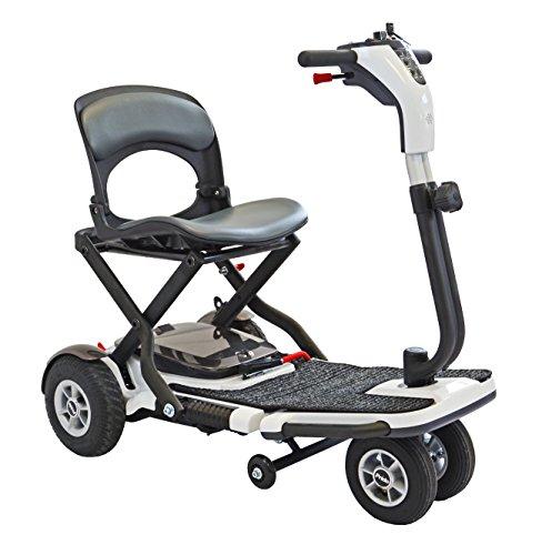 Elektromobil Scooter Holiday, faltbar, 4 Räder, 6 km/h, Elektro-Scooter mit Reichweite bis 20 km, 23 kg Eigengewicht