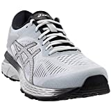 ASICS Gel-Kayano 25 Women's Running Shoe, Mid Grey/Black, 8 B(M) US