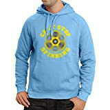 lepni.me Sudadera con Capucha Can't Stop Spinning - Fidget Spinner, Juego Hand Spinner (Small Azul