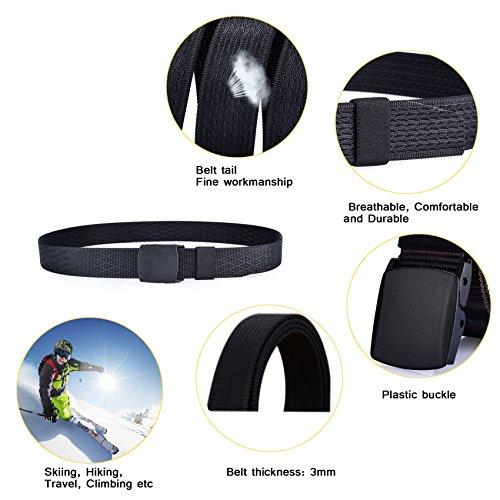 ITIEZY Herren Gürtel verstellbar Military Tactical Gürtel Automatische Schnalle Gürtel Waistband Gurtband Sportswear 1 Schwarz