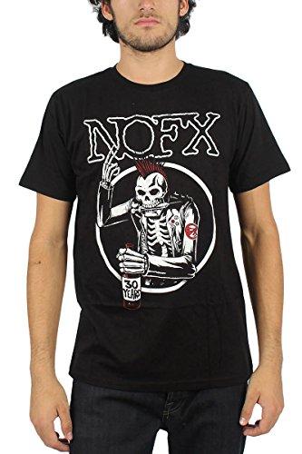 NOFX-Maglietta da uomo, motivo: teschio, colore: nero