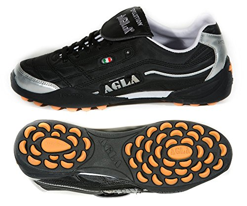 AGLA PROFESSIONAL EVOLUTION TOP 2 EXE OUTDOOR BLACK scarpe calcetto calcio a 5 (EUR 39.5)