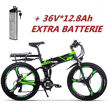 Rico Bit® Nuevo actualizado rt-860 36 V * 250 W eléctrico para bicicleta híbrida de montaña MTB Bike Bicicleta Ciclismo Impermeable Marco interior ...