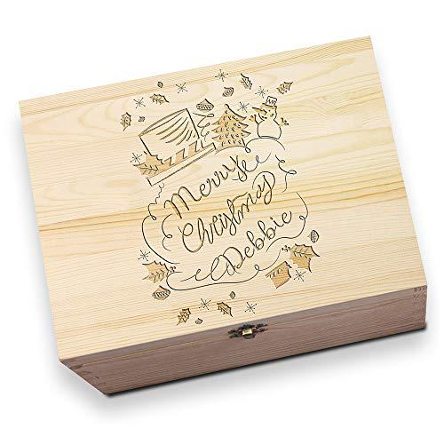 Schneemann personalisierbar Holz Christmas Eve Box ()