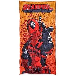 Elbenwald Toalla de Playa Deadpool Auge 90x180cm Marvel Rojo Amarillo