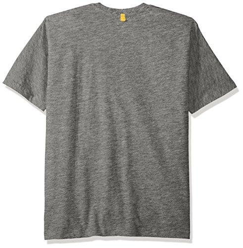 Caterpillar Herren TM Logo Kurzarm T-Shirt Dunkelgrau Meliert
