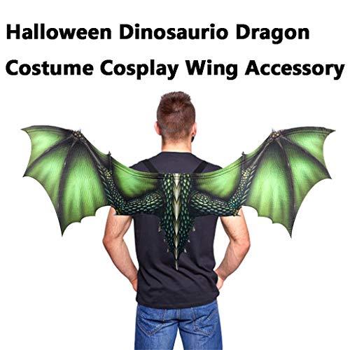 QIjinlook Halloween Maske - Drachenflügel Cosplay - Drachen Unisex Maskerade Maske Phantom der Oper Maske Maskenball Maske Kostüme Karneval Party Halloween Dragon für Erwachsene - Der Grüne Drache Kostüm Für Erwachsene