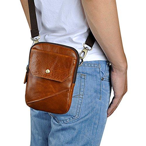 Genda 2Archer Mini Bolsa de Móvil Bolsa de Cintura Bolsa de Tirantes (16 cm * 2,5 cm * 21 cm) (Amarillo)