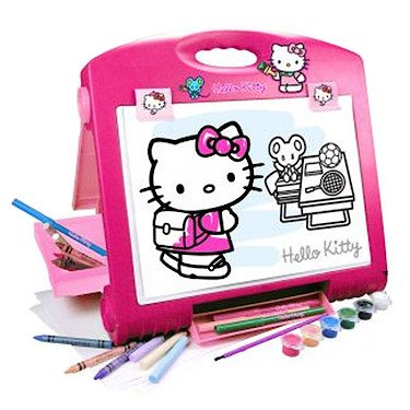 Faro Hello Kitty Artist's Table Art Easel - Hello Kitty Birthday Giochi