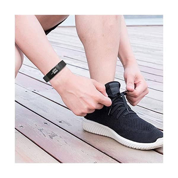 Ownest Compatible con Fitbit Inspire& Inspire HR Fitness Tracker Banda, Ajustable Suave Silicona Mujeres Hombres Correa… 8
