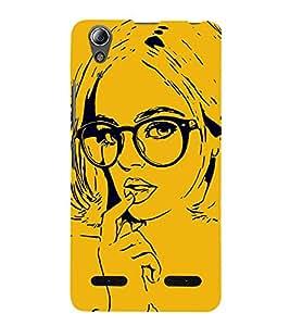 Fiobs Designer Back Case Cover for Lenovo A6000 Plus :: Lenovo A6000+ :: Lenovo A6000 (Lady Girl Ladki Scarf Lovely Good Gift )
