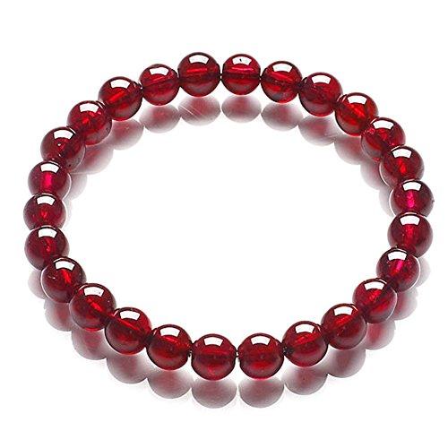 vin rouge grenat bracelet/Bijoux de mode filles coréennes/ bracelets de cristal naturels A